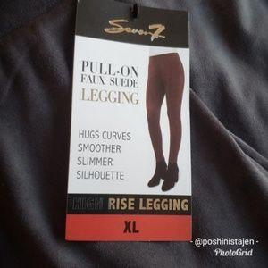 352dc50e66684 Seven7 Pants | Nwt Gray Faux Suede Leggings | Poshmark
